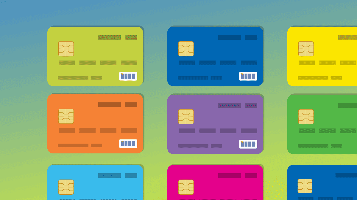 Illustration of prepaid cards
