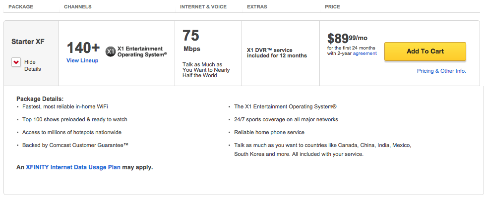 The price for new customers is also $10 less per month than this eight-year subscriber pays.