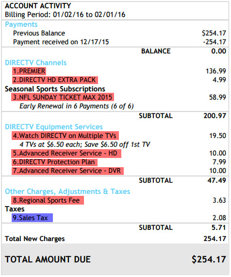 The Consumerist Guide To Understanding Your DirecTV Bill