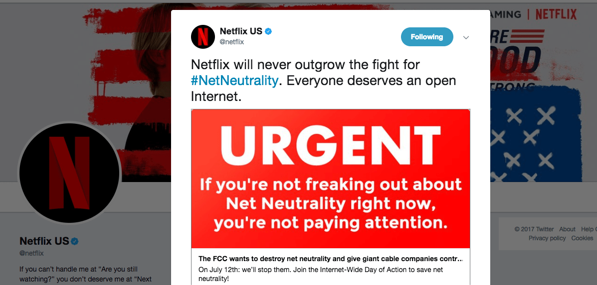 Netflix Changes Its Mind, Decides Maybe It Does Care About Net
