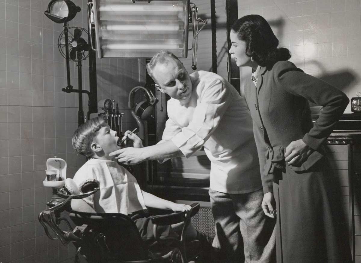 Children's dental care, 1950