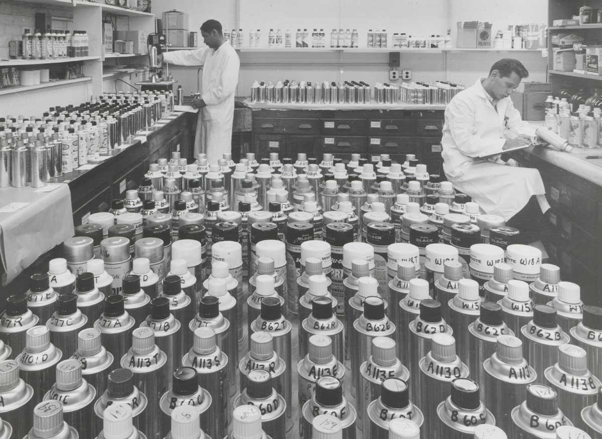 Aerosol gloss enamels, 1961