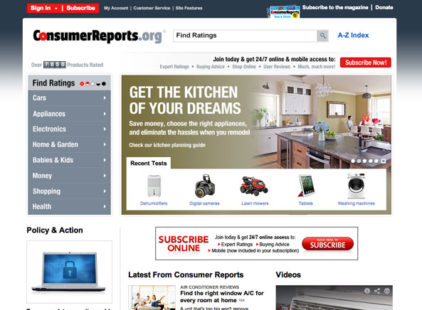 consumer reports magazine 5 year index consumer reports. Black Bedroom Furniture Sets. Home Design Ideas