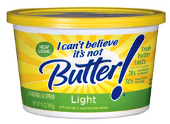May 09,  · **I Can't Believe It's Not Butter!® It's Vegan 45% vegetable oil spread contains 6g fat (2g saturated fat, 0g trans fat) and 60 calories per serving. ***A blend of soybean and canola oils. Contains mg of omega-3 ALA per serving, which is 18% of the g daily value of ALA/5(K).