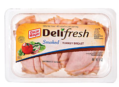 How many calories in turkey breast lunch meat