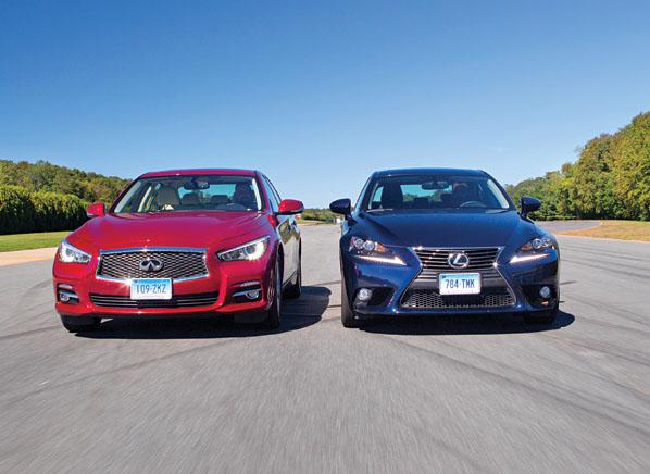 Infiniti Q50 vs Lexus IS 250 Road Test Consumer Reports