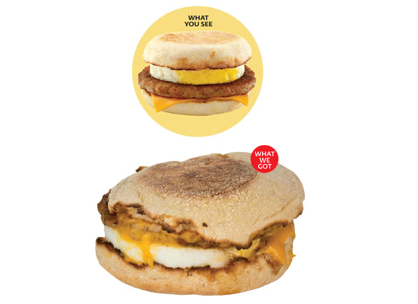 Fast Food Not As Pictured Fast Food Consumer Reports