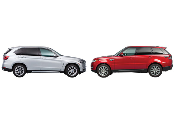 BMW X5 and Land Rover Range Rover Sport Reviews  Consumer Reports