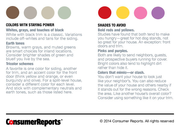 Exterior paint colors that sell consumer reports news - Consumer reports best exterior paint ...