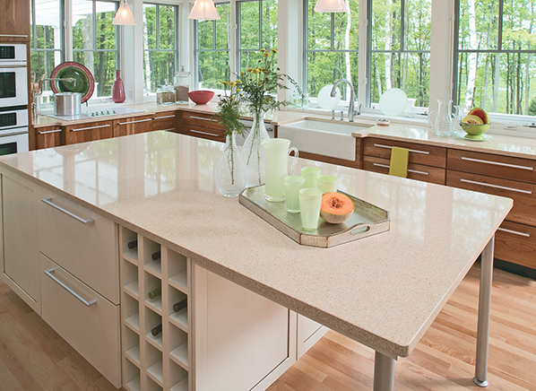 bathroom countertop options glass size and of granite for colors price comparison medium cost kitchen recycled sink white s