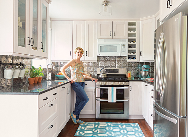 Adrian Forman In Her Updated Kitchen. Photo: Mark Lund