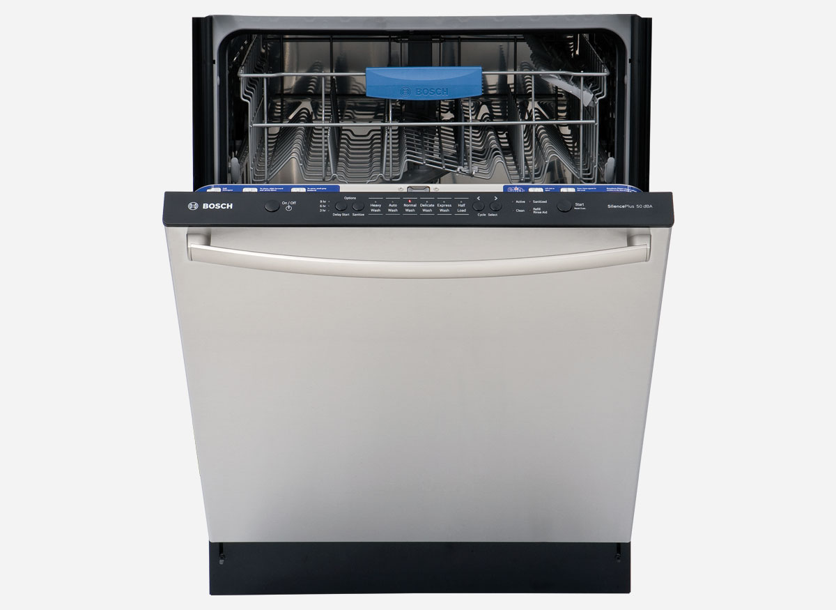 The Bosch Ascenta SHX3AR7[5]UC dishwasher. Use a rinse aid with it.