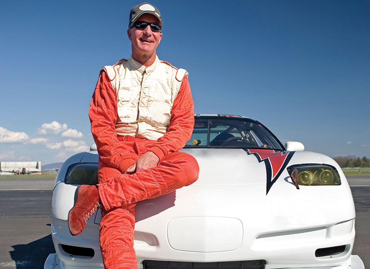 An image of an amateur race-car driver