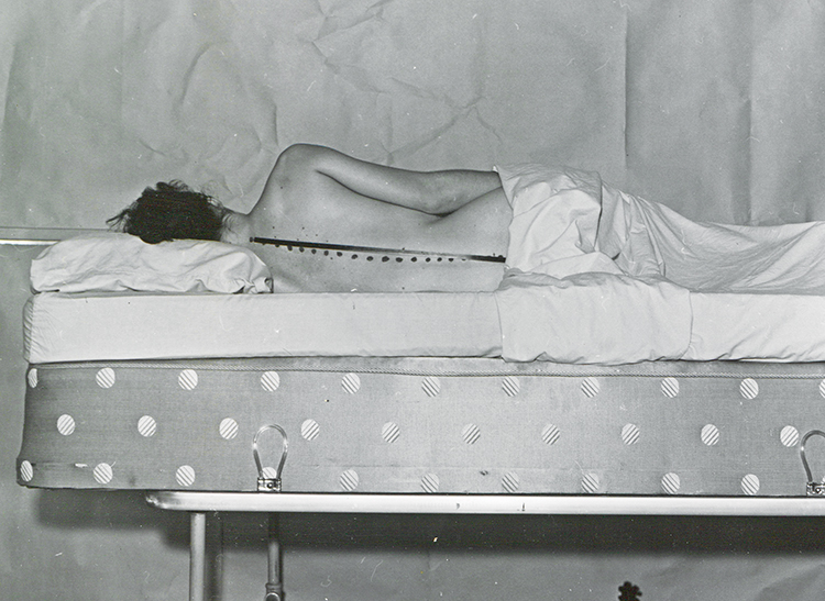 Vintage photo from Consumer Reports' mattress tests. Our goal is to help you find the right mattress.