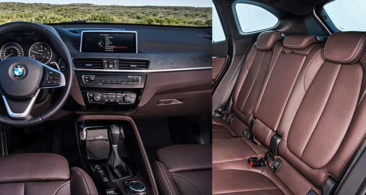 Image Of The Front And Rear Interior 2016 Bmw X1 Luxury Suv