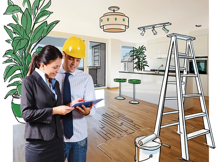 Home Owner Discussing Renovation Plans With A Contractor