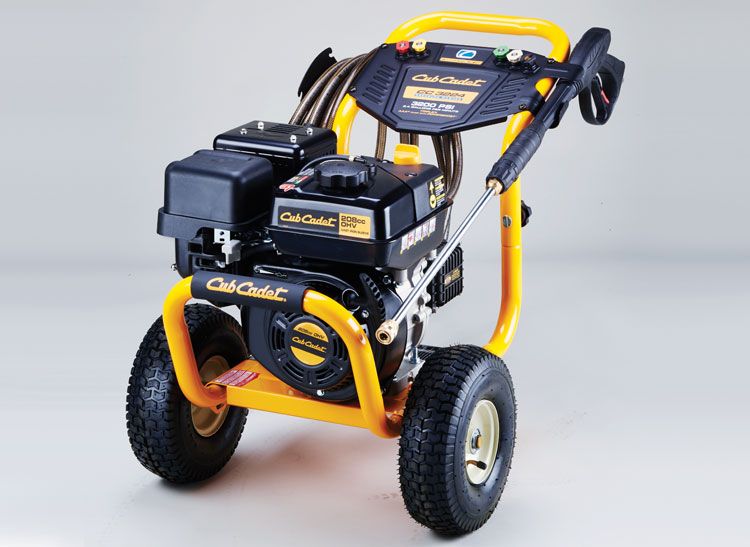 Cub Cadet CC3224 pressure washer for story on pressure washer safety.