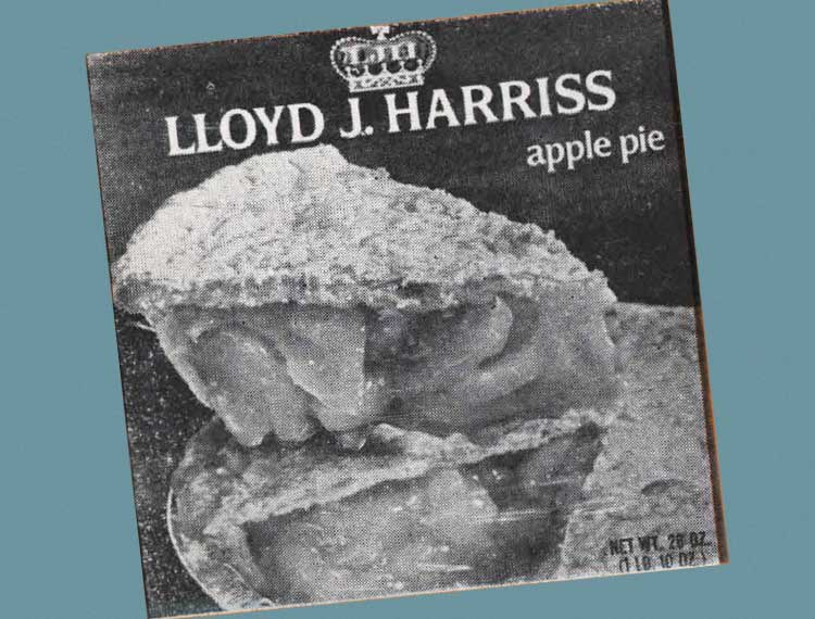 Lloyd J. Harriss apple pie box cover