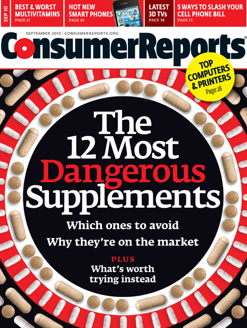 Consumer Reports September 2010 Cover