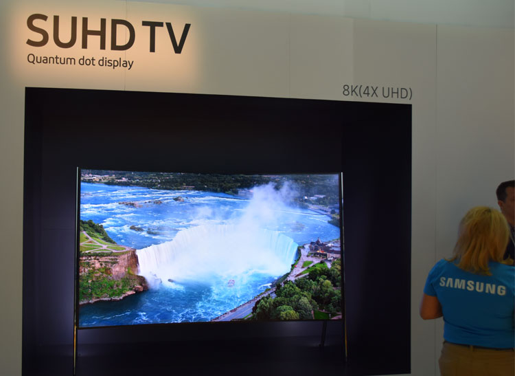 Samsung's new 8K television at CES 2016