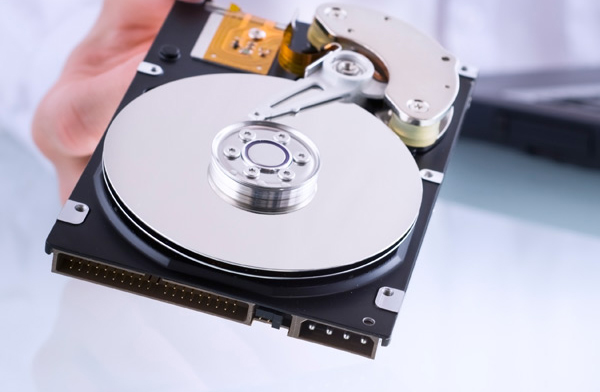 Photo of a computer drive.