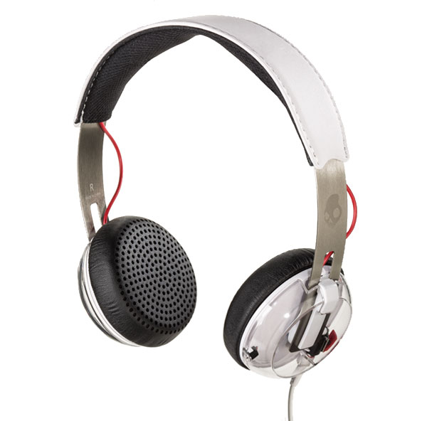 A pair of on-ear headphones.