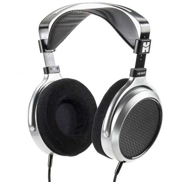 Over-the-ear model headphones.