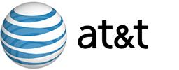 AT&T's logo.