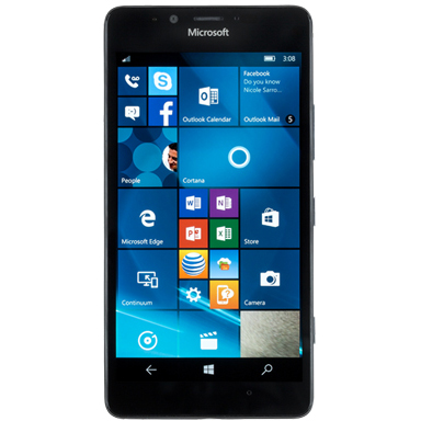 Picture of a Windows phone.