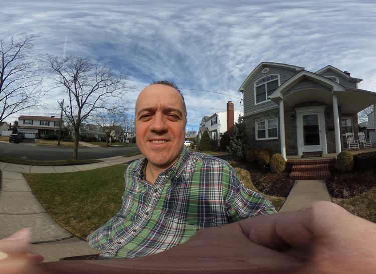 A self-portrait shot with the Ricoh 360-degree camera