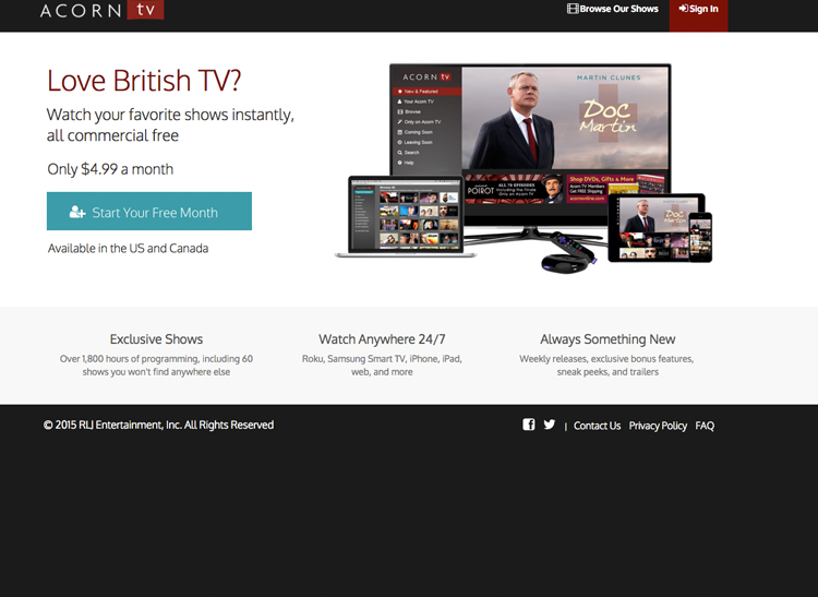 acorn tv is one of the popular streaming sites