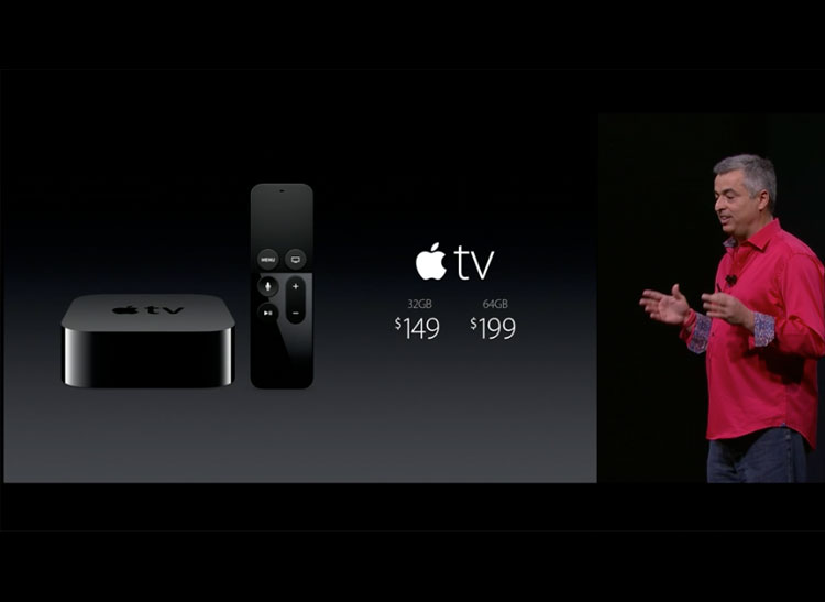 Photo of the two new Apple TV versions.