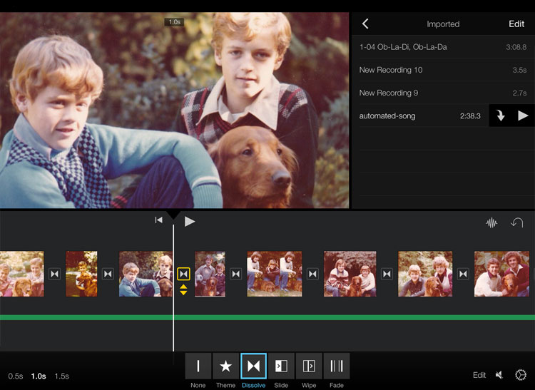 how to put song from garageband into imovie