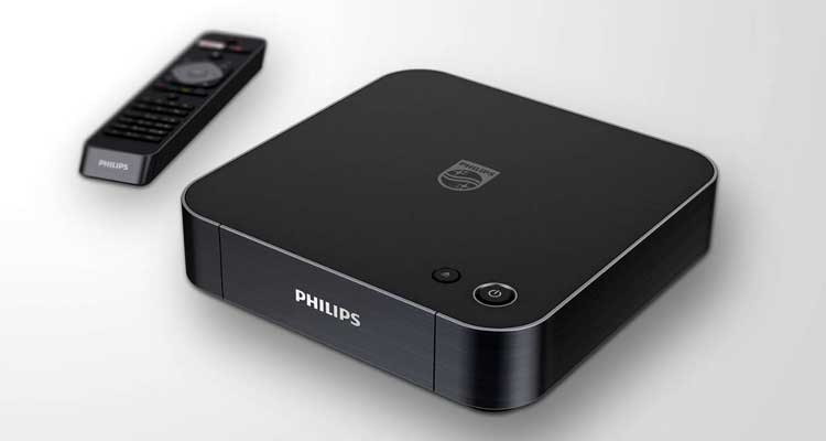 Philips BDP7501 4K Blu-ray player.