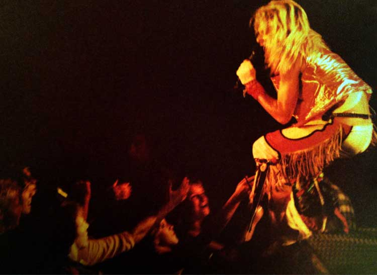 a concert photo of David Lee Roth of Van Halen, an early example of the author's concert photography