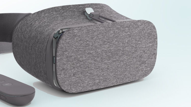 This is a photo of the Google Daydream headset and controller.