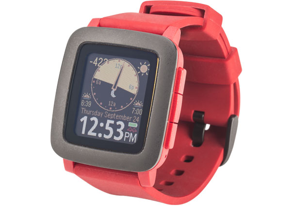 Picture of a red-colored budget-minded and basic smartwatch