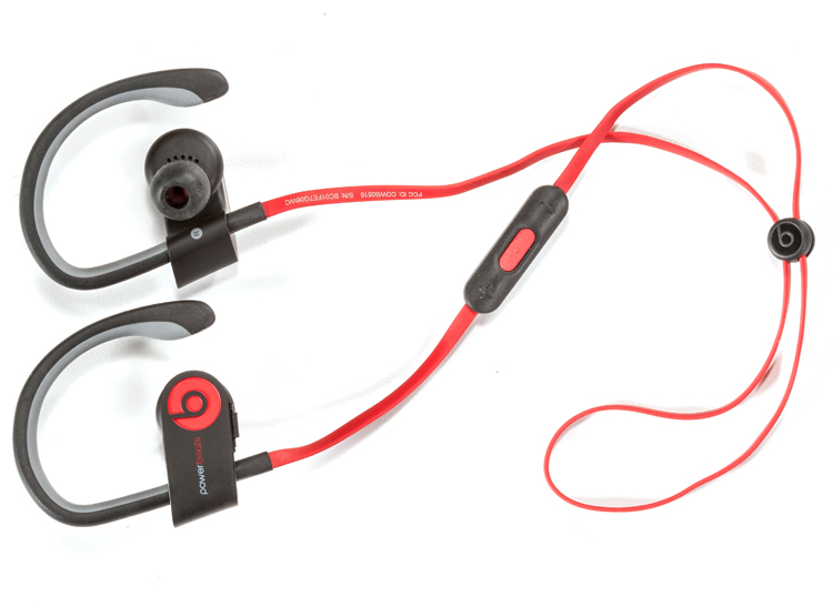 beats by dre powerbeats 2 headphones are great for working out with.
