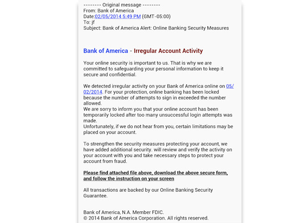 secure bank of america