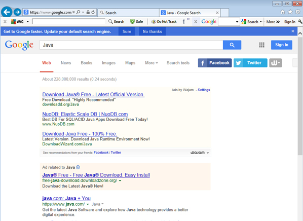 Retrieved results from google image search engine for query q1.