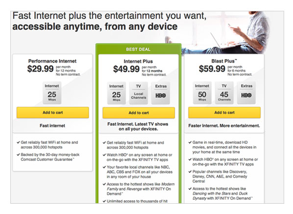 Comcast Internet Plus |Bundles Internet, TV, and HBO ...