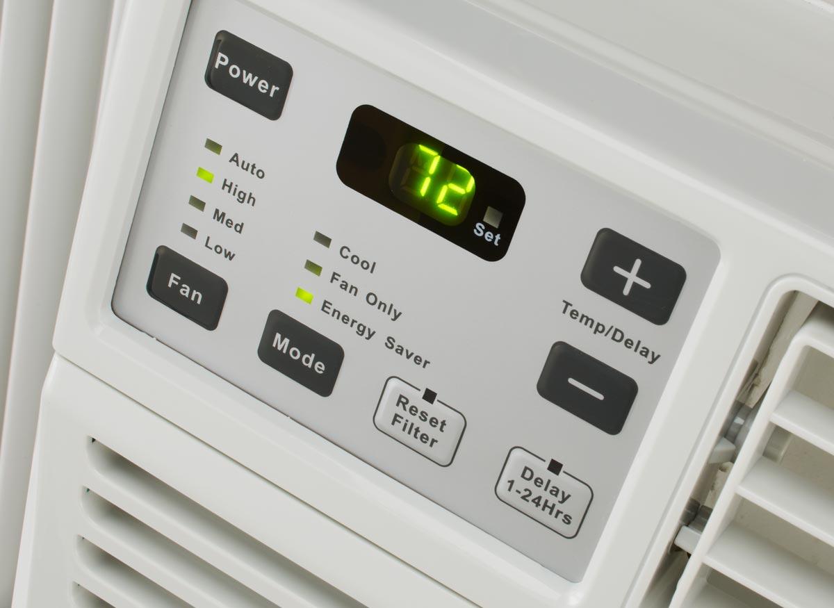 Photo of air conditioner controls.