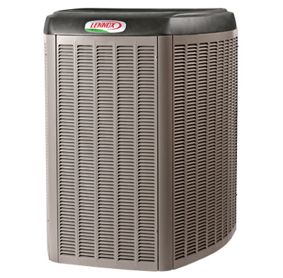 Photo of a central air conditioning unit.