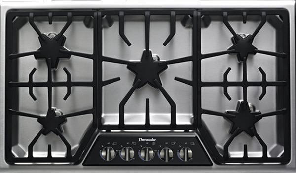 Image of a gas cooktop.