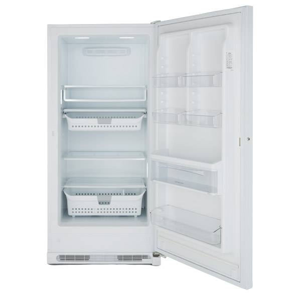 Photo of an upright freezer.