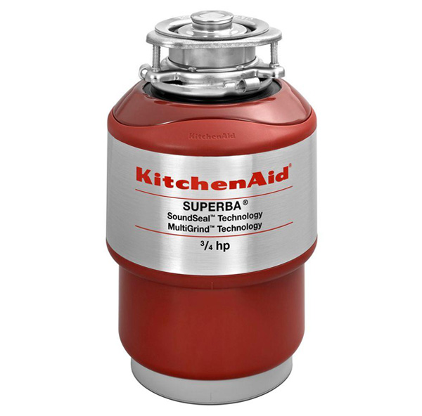 Photo of a KitchenAid Superba KCDS075T Continuous-Feed Garbage Disposer.