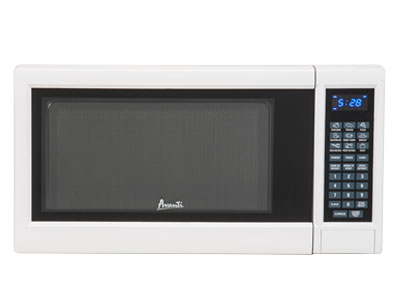 Photo of a countertop microwave oven.