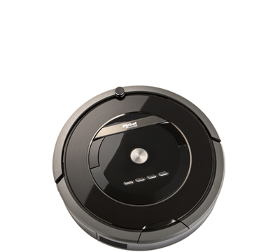 Picture of a robotic vacuum.