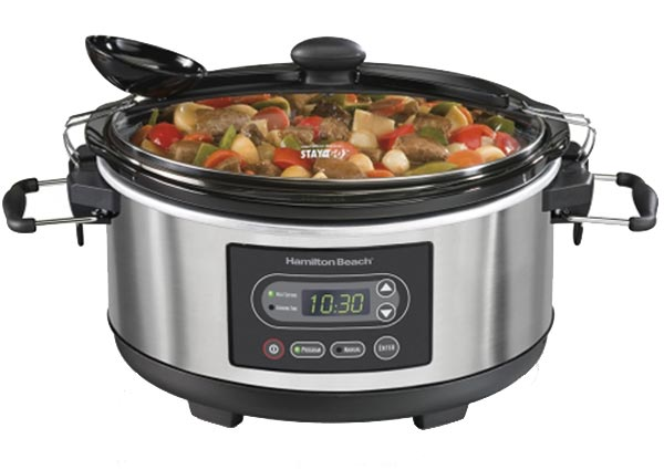 Photo of a programmable slow cooker.