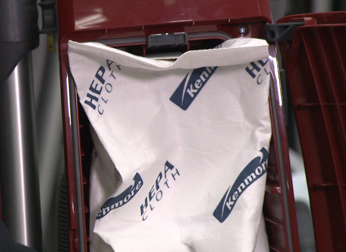 Picture of a HEPA vacuum bag.